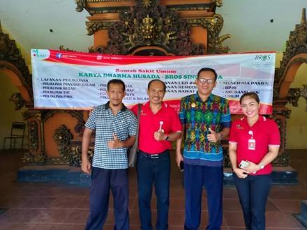 Kedatangan Tim Karya Dharma Husada-BROS Singaraja Persiapan Safari Kesehatan